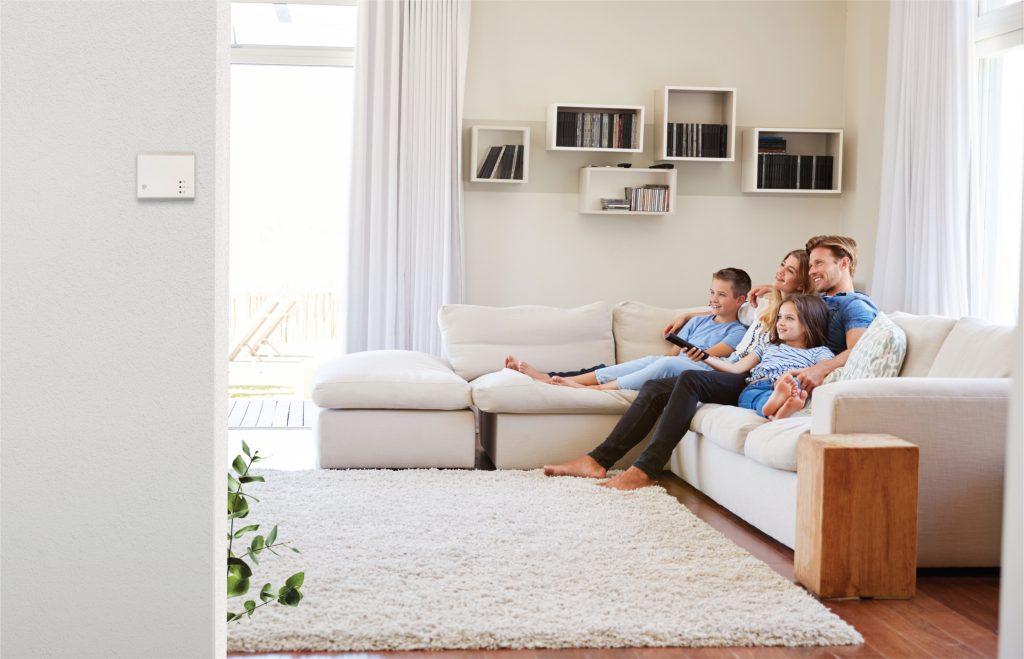 čidla kvality vzduchu v obývacím pokoji