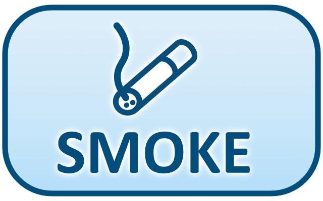Ikona čidel cigaretového kouře - SMOKE (anglicky kouř)